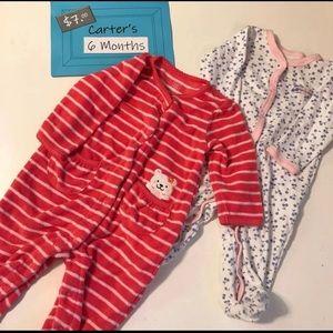 Carter's 6m Baby Girl Pajamas, EUC